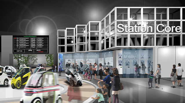 See the diverse mobilities in motion in a futuristic city!